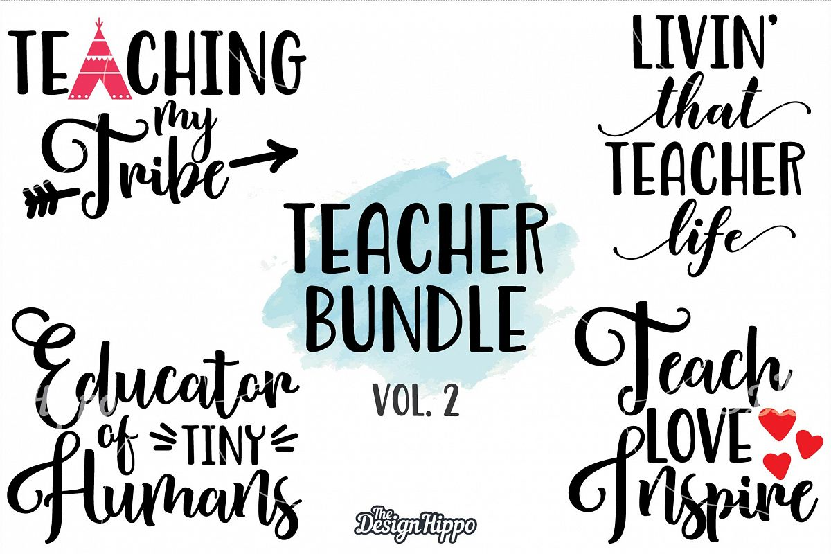 Teacher, Back to school Bundle, Quote, Sayings, SVG PNG DXF