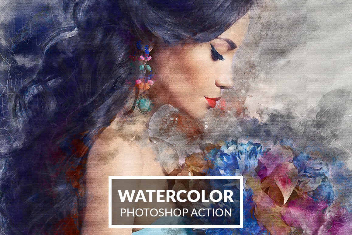 Watercolor Photoshop Action example image 1