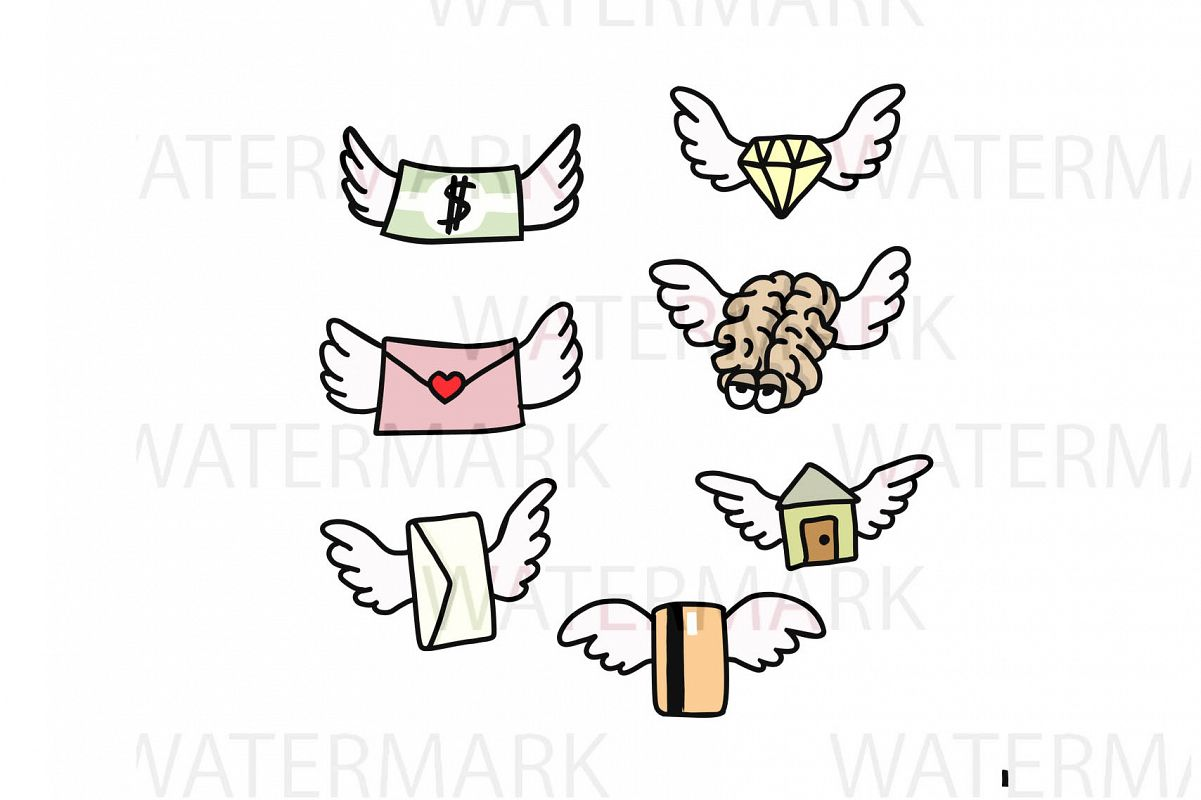 Flying Elements - SVG/JPG/PNG Hand Drawing example image 1