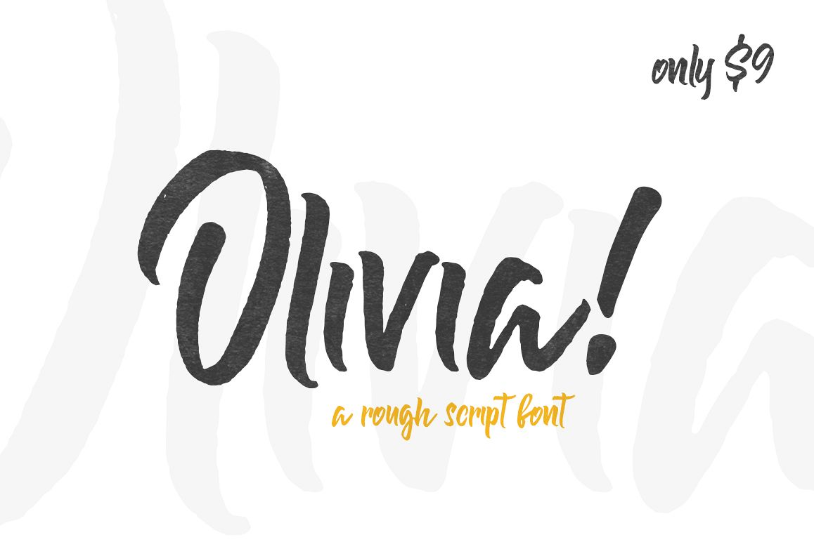Olivia Rough Font example image 1