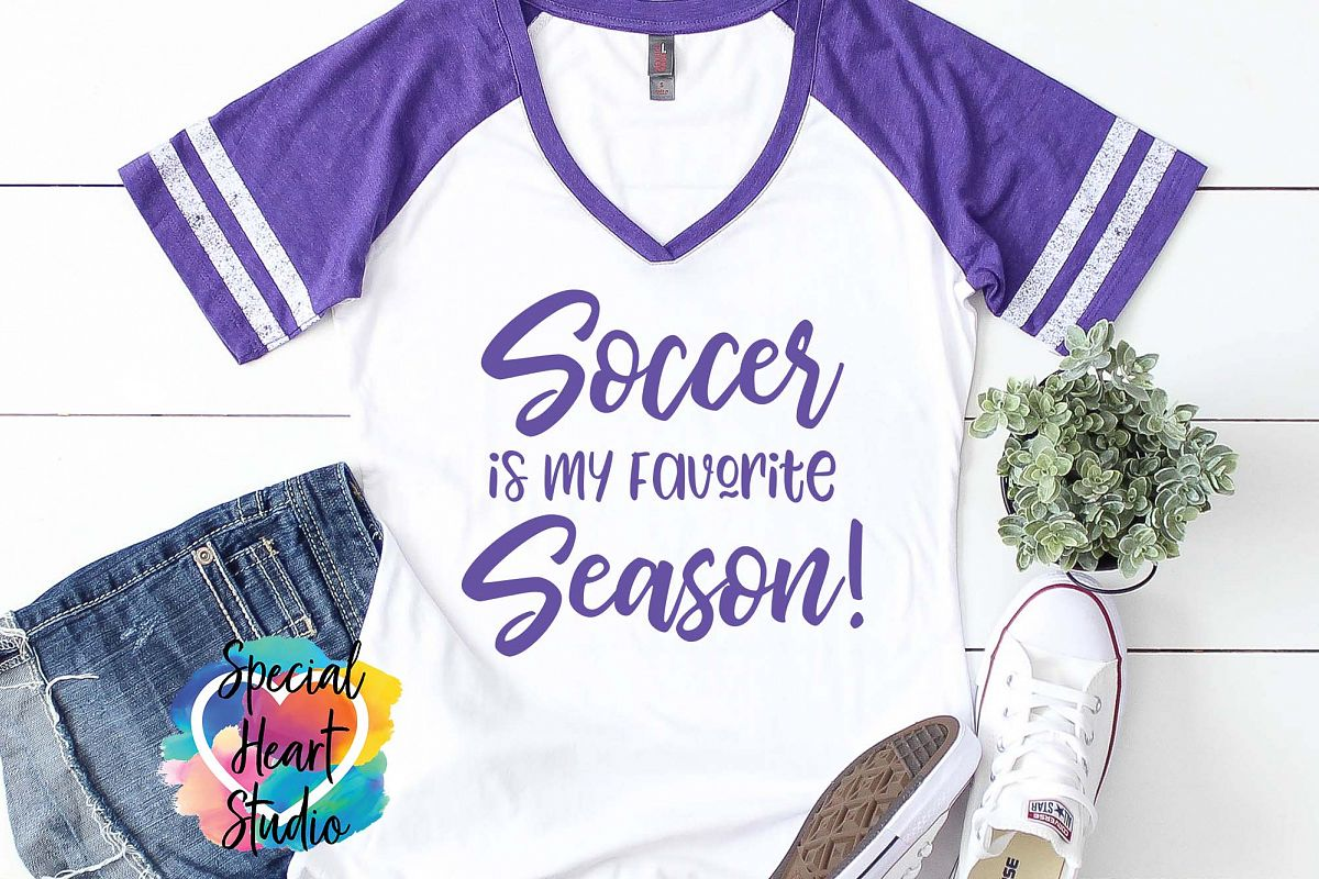 Soccer Is My Favorite Season - A Soccer SVG Cut File example image 1