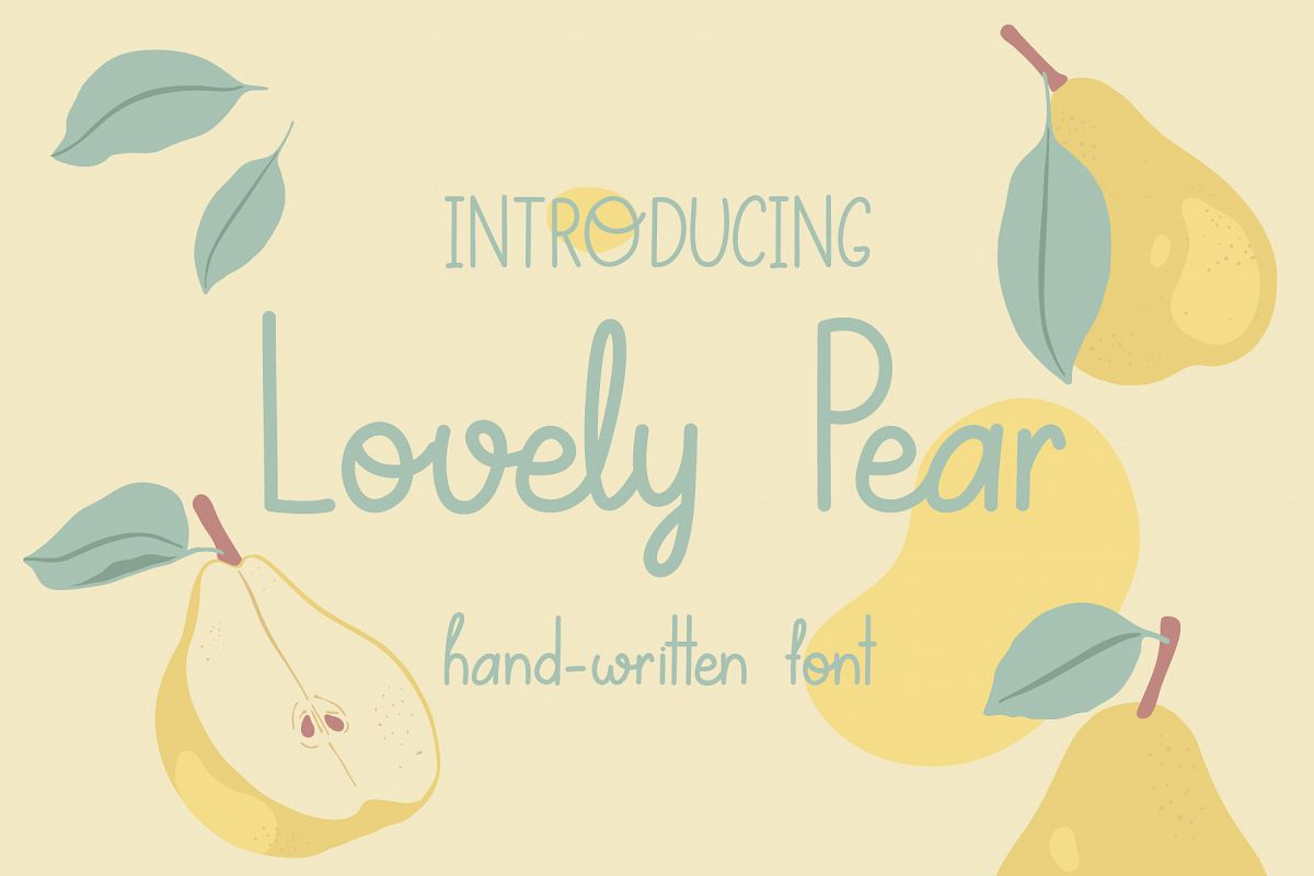 Lovely Pear | hand-written font example image 1