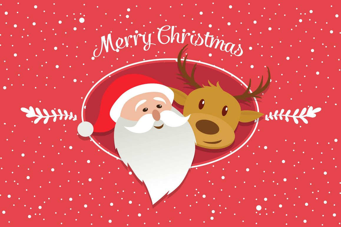 Merry Christmas characters vector example image 1