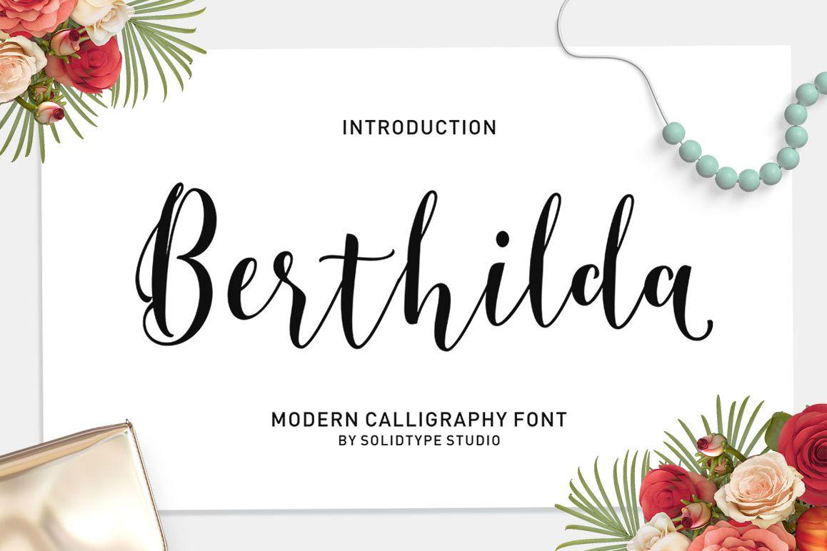 Berthilda Script example image 1