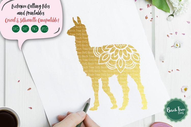 Llama Mandala SVG, Llama Svg, Llama Cut File, Llama Design example image 1