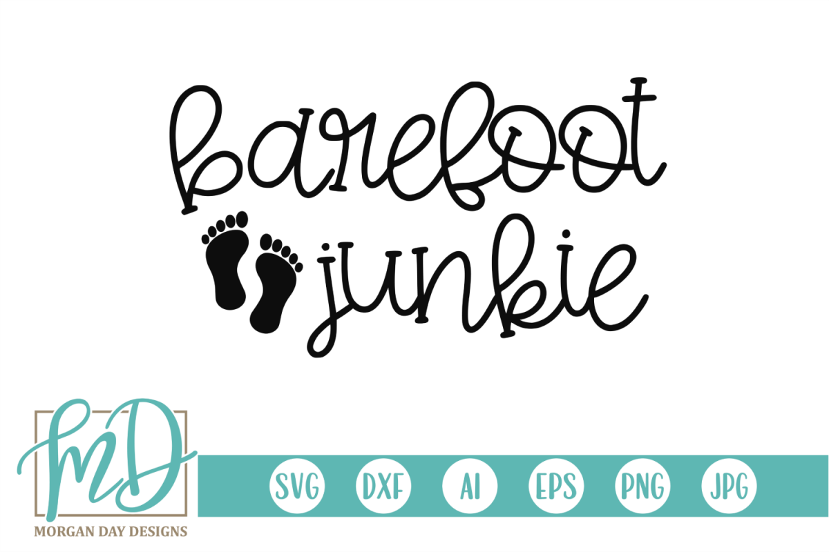 Summer - Vacation - Pool - Beach - Barefoot Junkie SVG example image 1