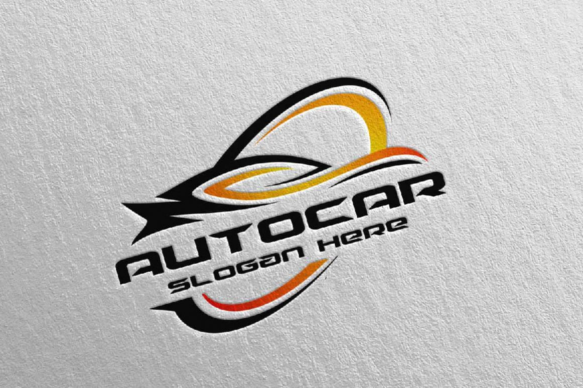 Auto Car Logo For Sport Cars Rent Wash Or Mechanic 3
