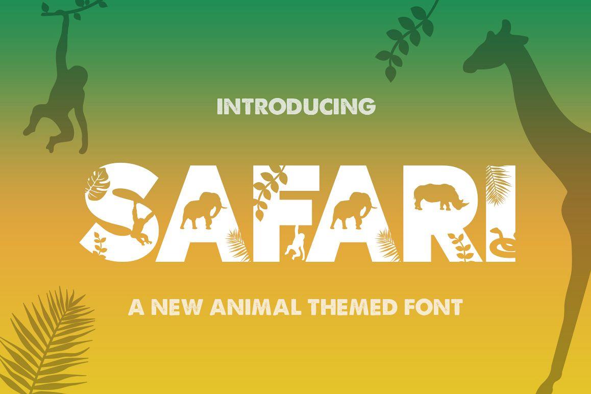 Safari Silhouette Font example image 1