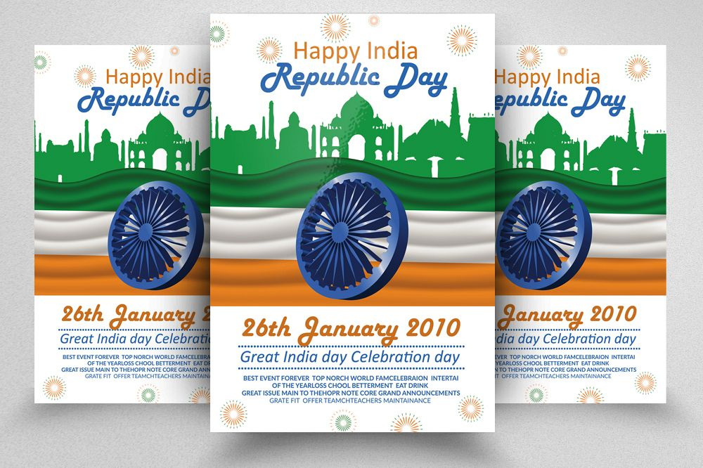 Happy Indian Republic Day Flyer/Poster example image 1