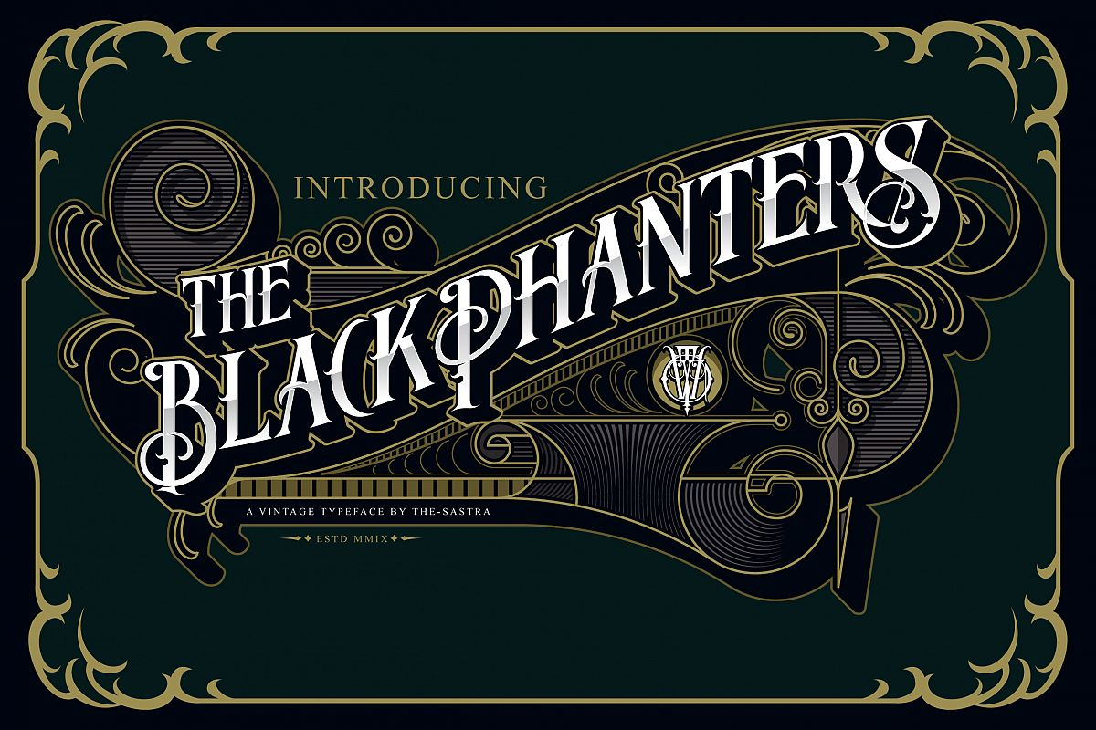 Blackphanter display font example image 1