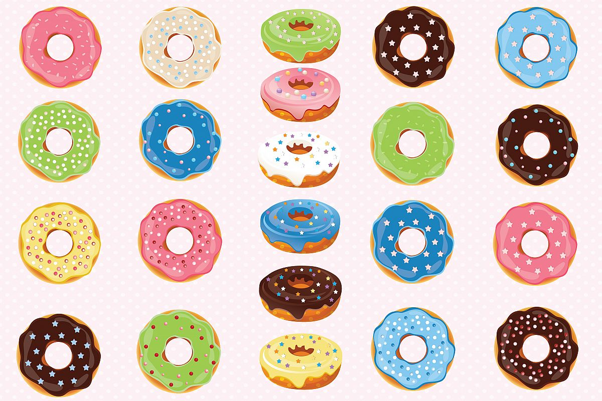 donuts clipart donuts graphics by prem design bundles rh designbundles net donuts clipart png donut clipart images
