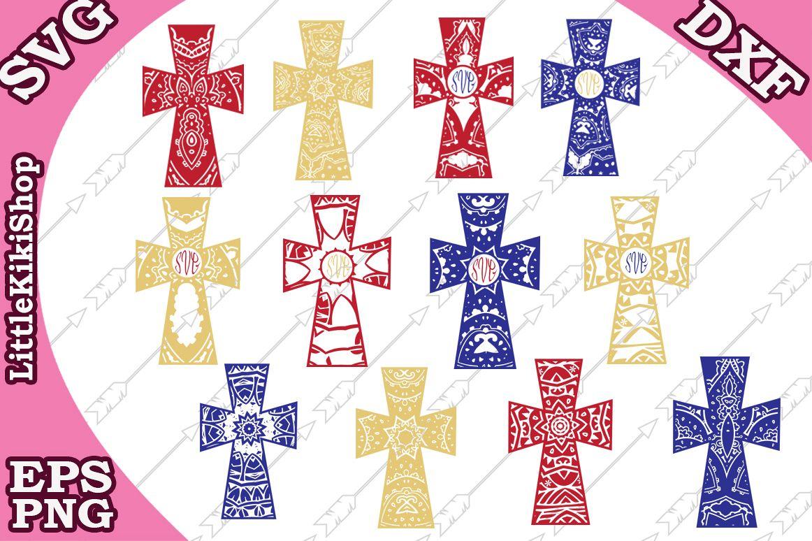 Christian Cross Svg, Cross Monogram Svg,Cross Svg,Christian example image 1