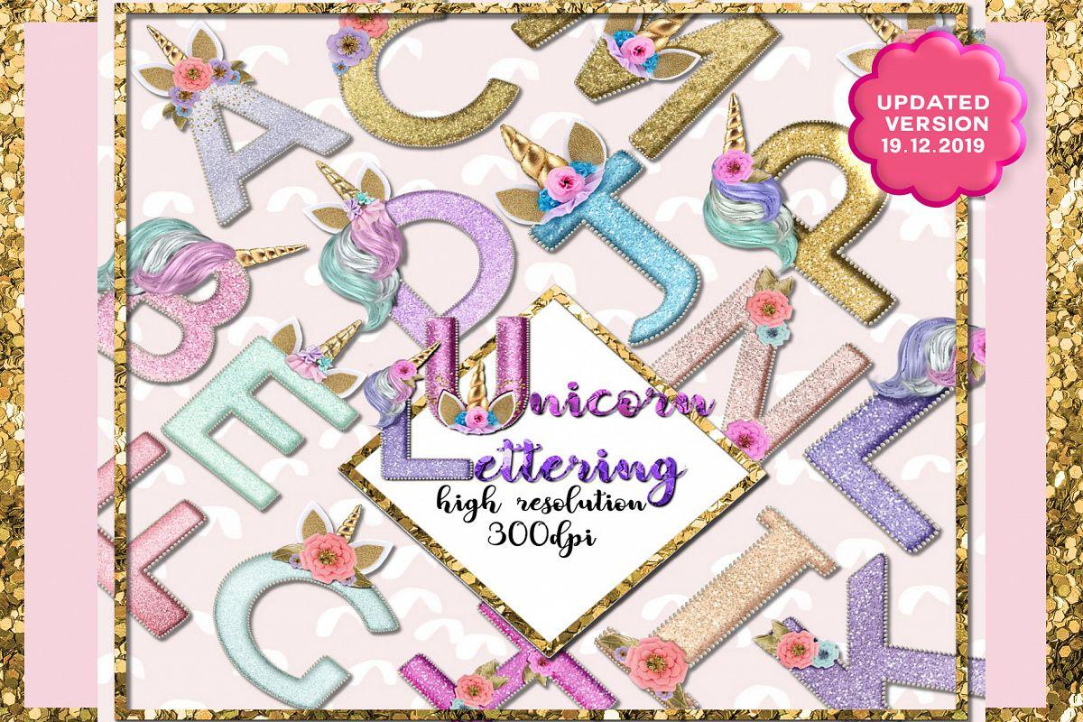 Unicorn Monogram Png Lettering example image 1