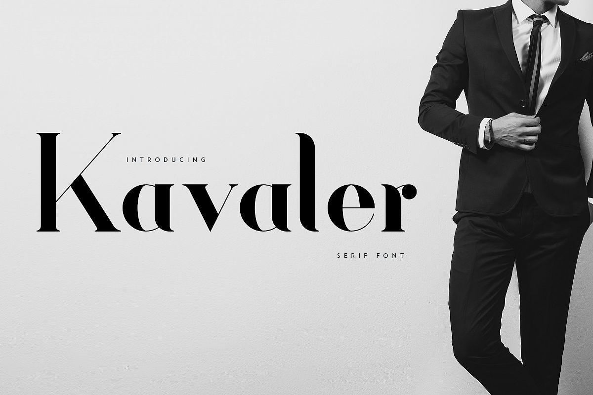 Kavaler - serif font example image 1