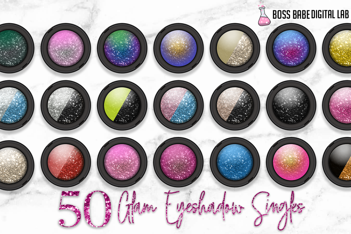 50 Glam Eye Shadow Clipart example image 1