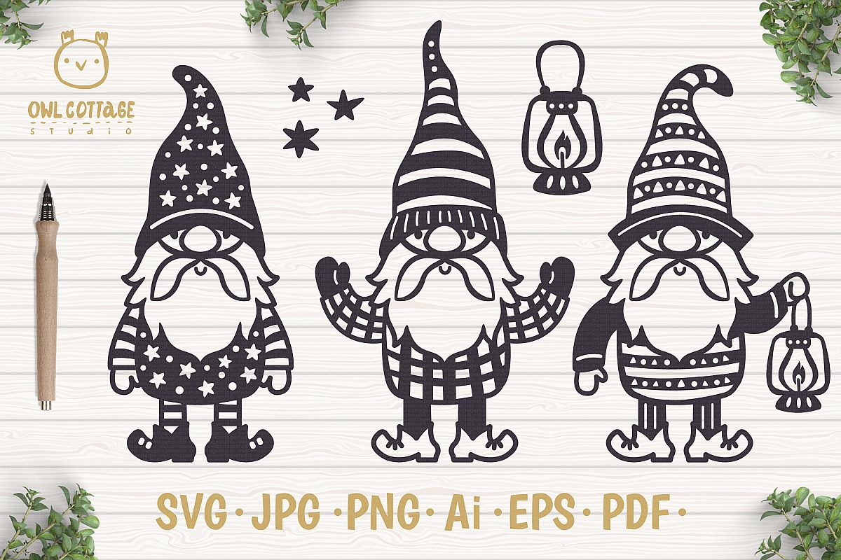 Scandinavian Gnomes SVG, Gnome Clipart, Tomte example image 1