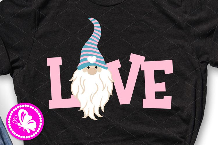 Love svg Gnome clip art Home sign Valentine shirt design example image 1