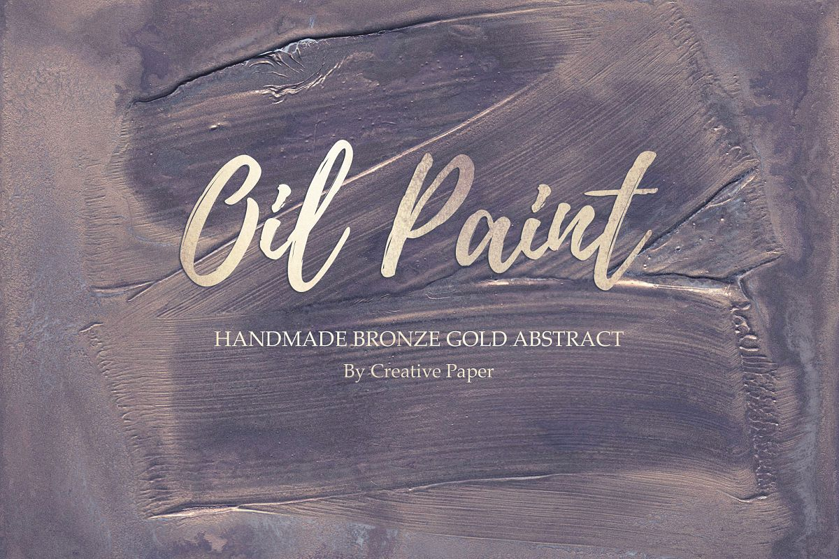 Oil Paint - Handmade Bronze Gold Abstract Backgrounds example image 1