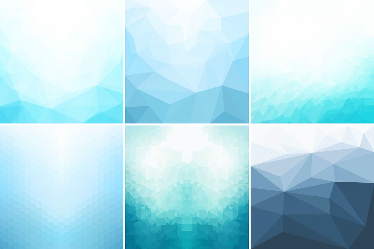 Blue abstract geometric backgrounds. example image 1