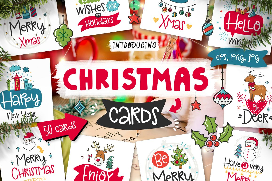 50 Christmas Cards with Quote! example image 1