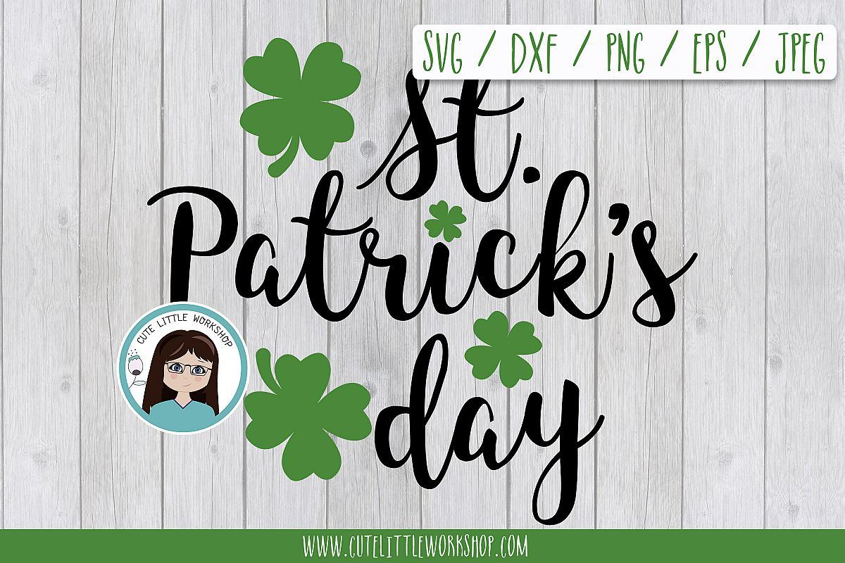 St. patricks's day SVG DXF PNG JPEG EPS example image 1