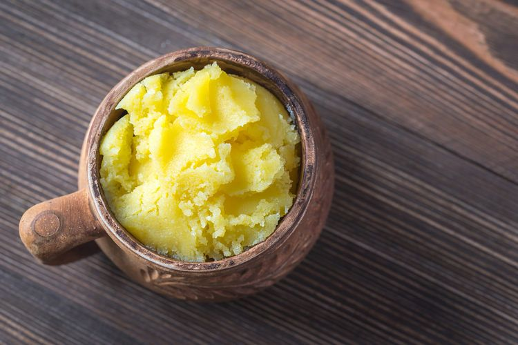 Bowl of ghee clarified butter example image 1