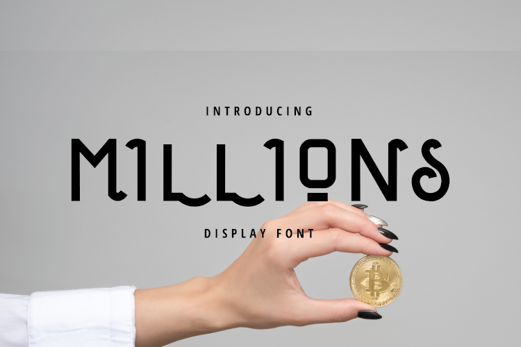 Millions Display Font example image 1