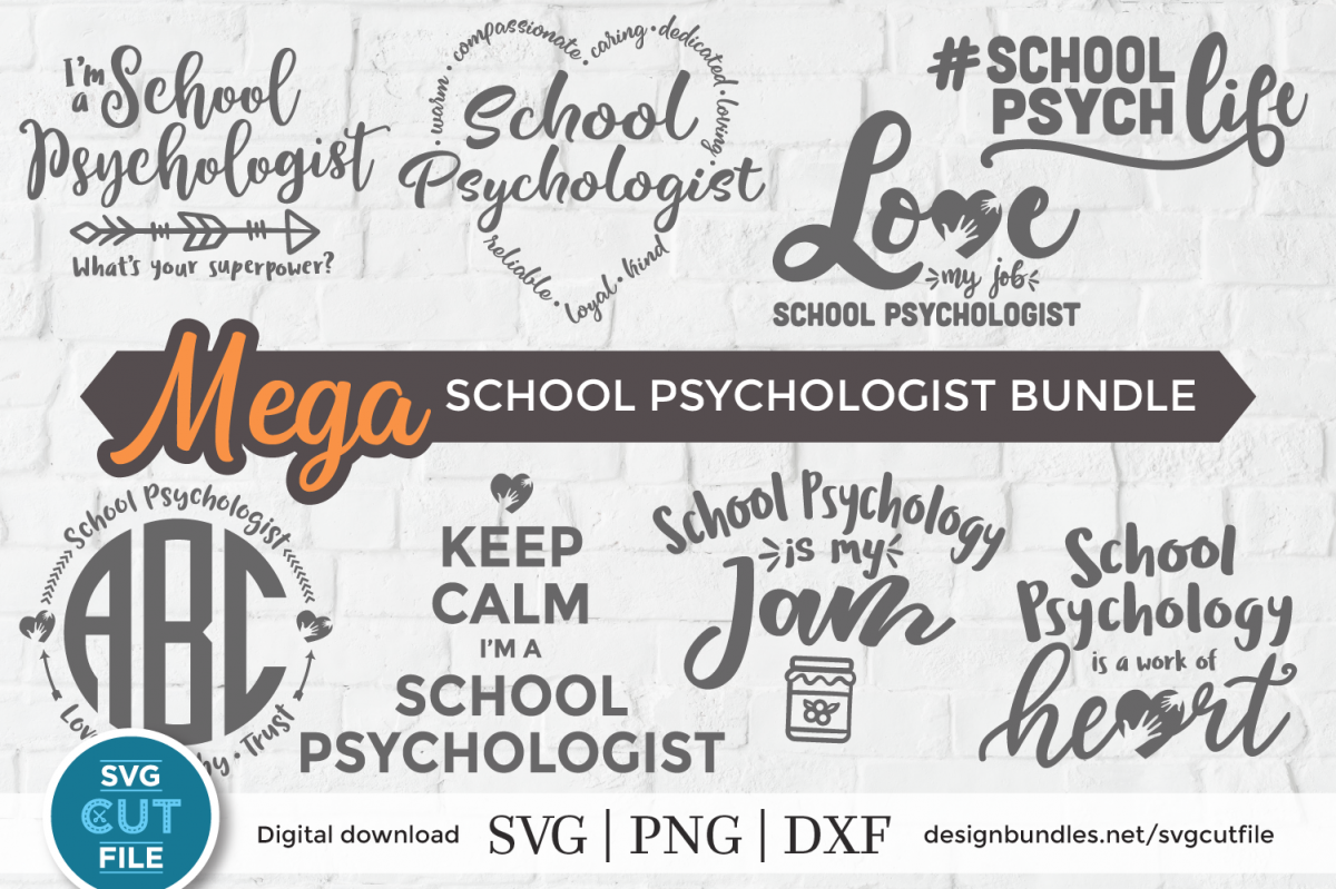 School Psychologist svg bundle, School Counselor svg bundle example image 1