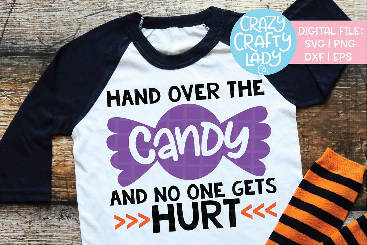 Hand Over the Candy SVG DXF EPS PNG Cut File example image 1