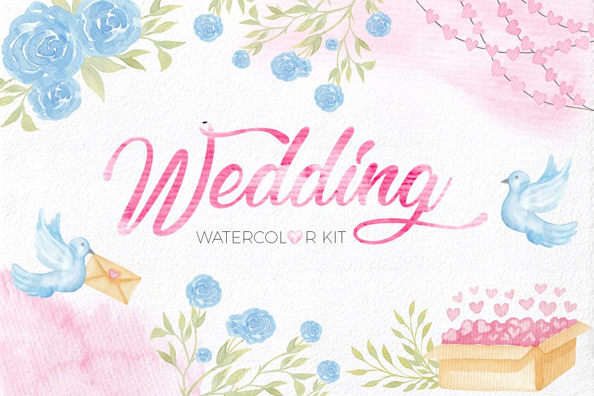 Wedding Watercolor Set example image 1