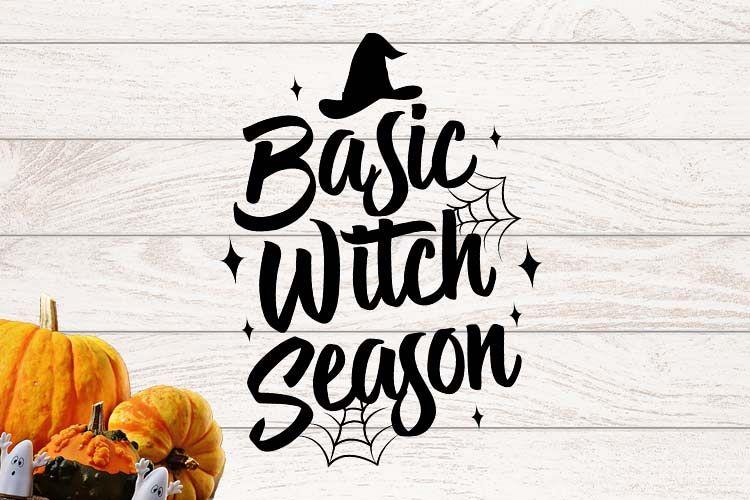 Basic Witch Season Halloween SVG example image 1