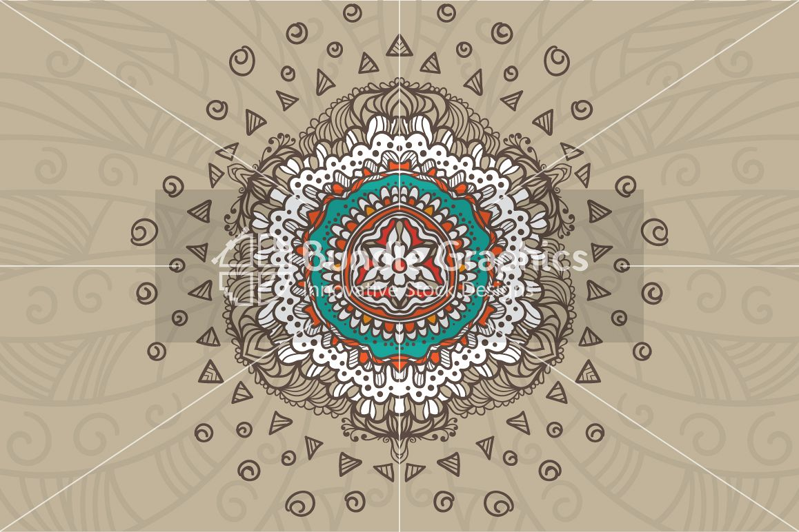 Tribal Art Rangoli - Rural Symmetrical Design example image 1