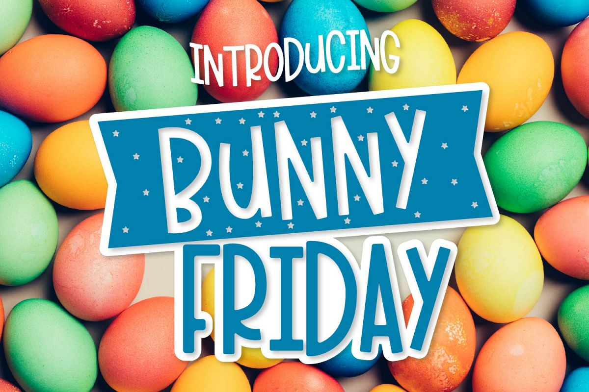 Bunny Friday - A Fun Smooth Font Trio example image 1