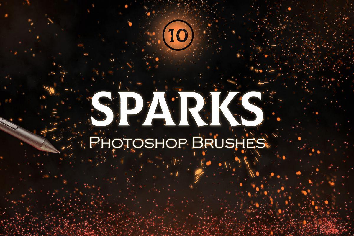 Sparks Photoshop Brushes example image 1