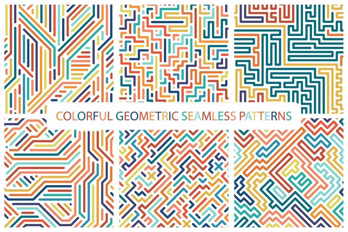 Colorful seamless striped patterns. example image 1