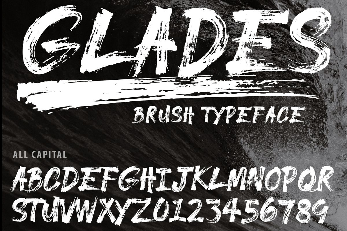GLADES Brush Typeface example image 1
