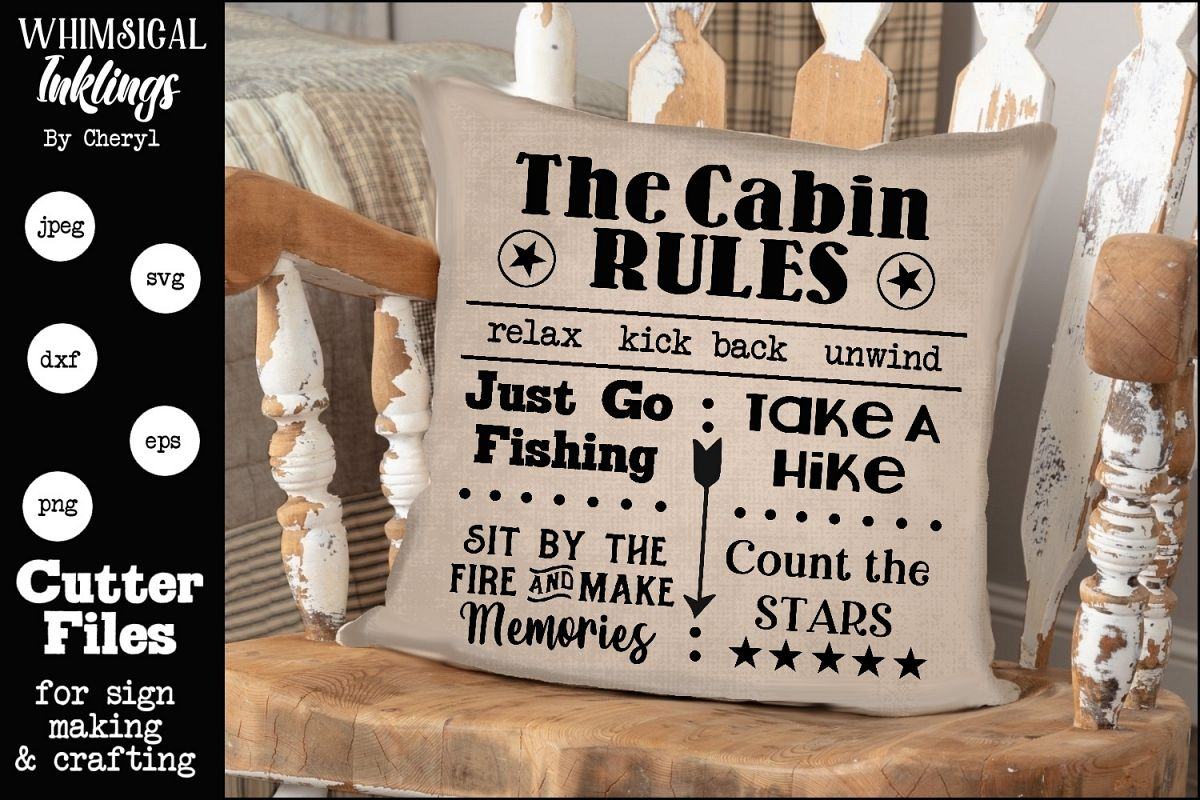 The Cabin Rules SVG example image 1