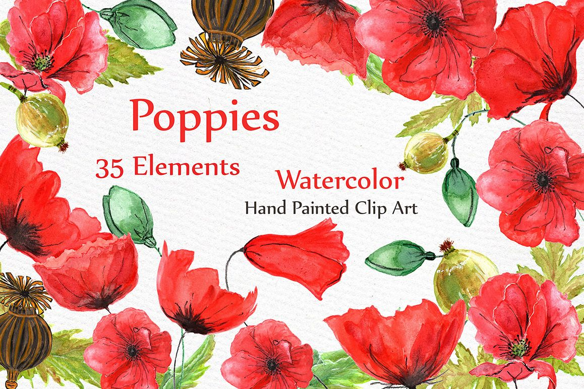 Watercolor flowers poppies clipart by design bundles watercolor flowers poppies clipart example image mightylinksfo