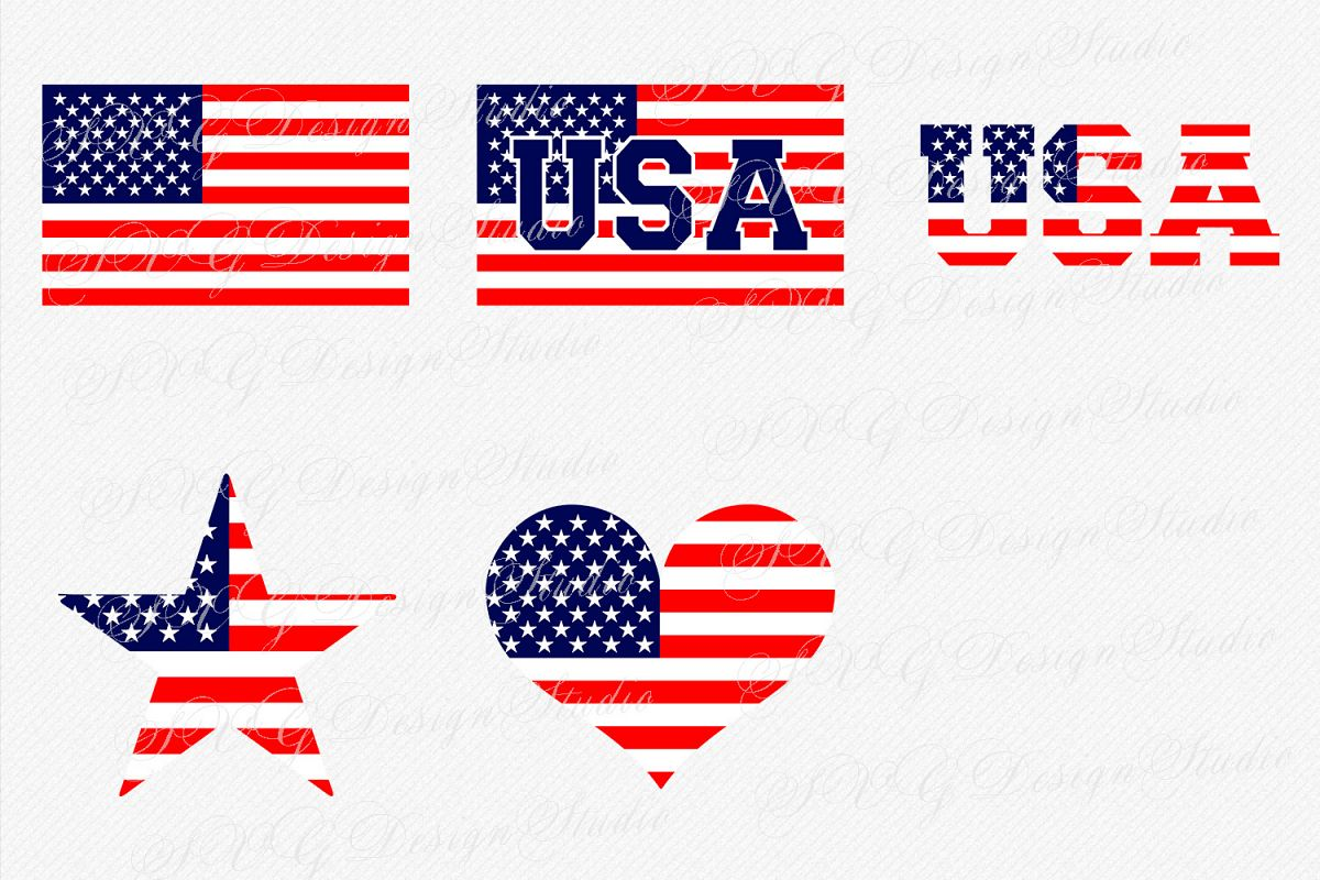 American flag svg. Vector us usa clipart