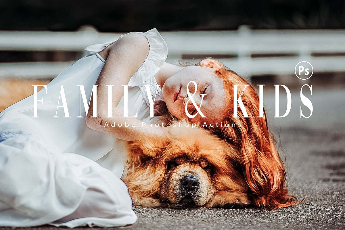 10 Family & Kids Photoshop Actions, ACR and LUT presets example image 1