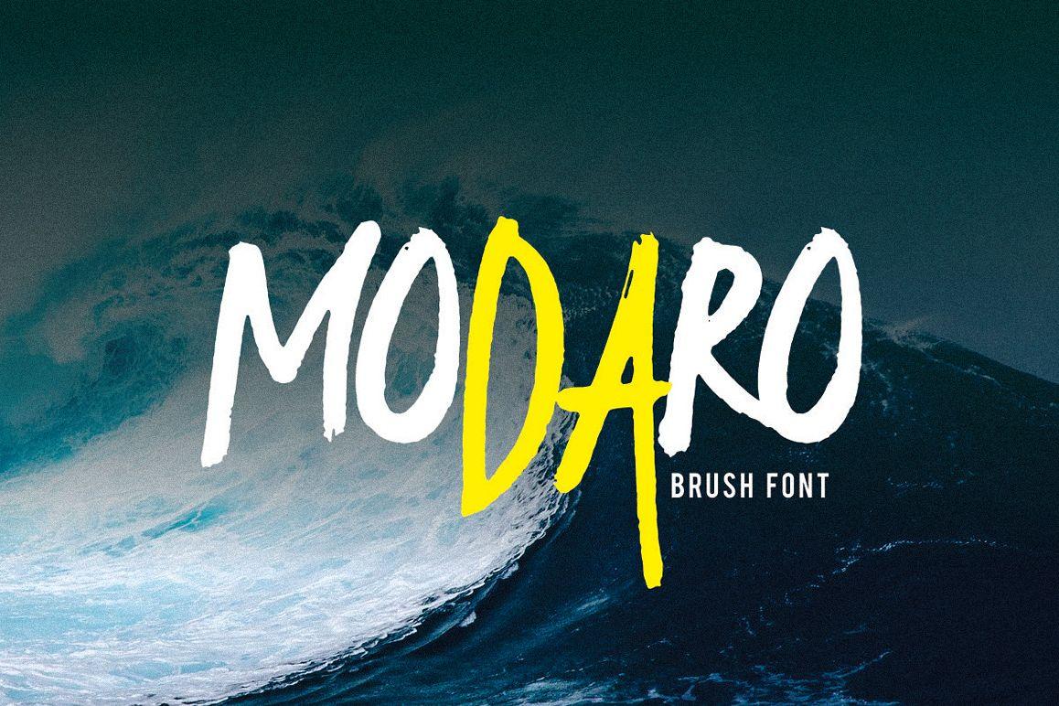 Modaro Bold Handmade Brush Font example image 1