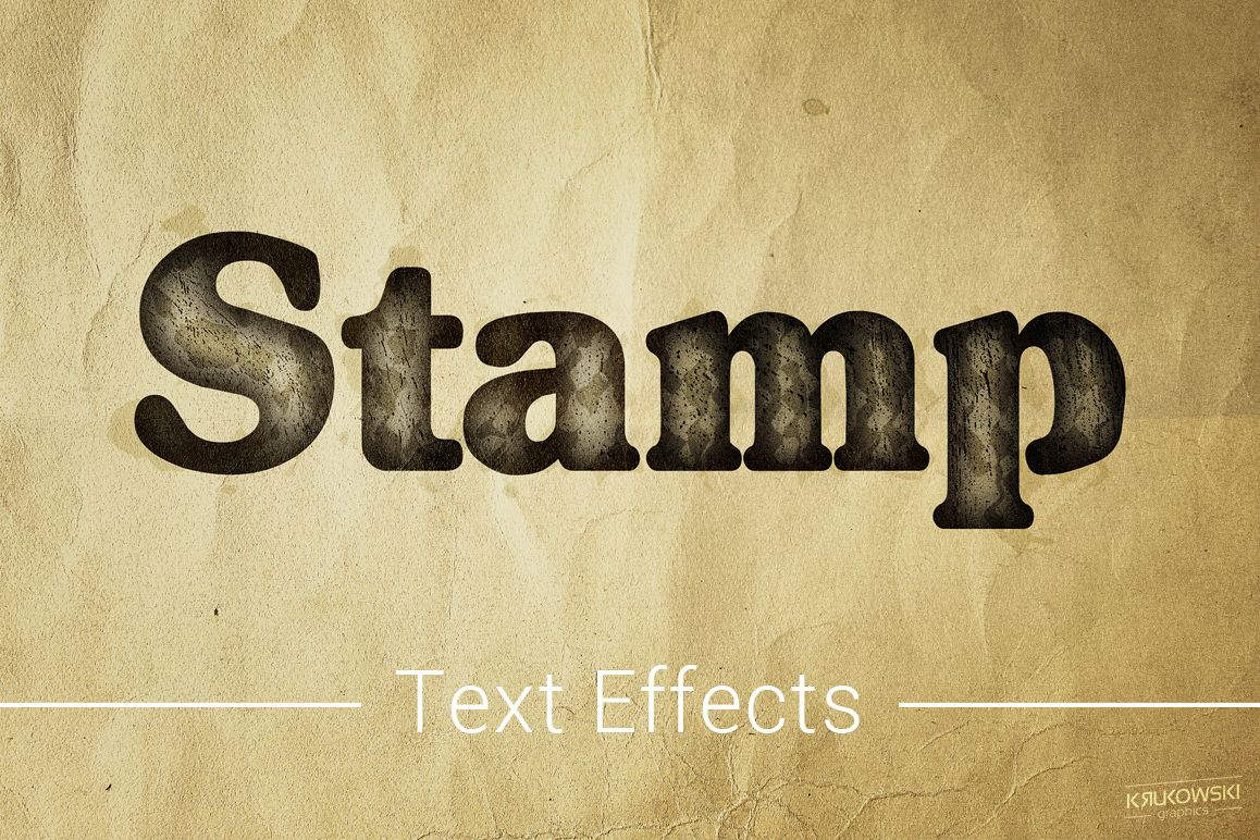 Stamp Ink Text Effects Style example image 1