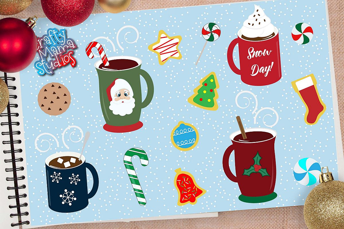 Hot Cocoa Bundle SVG, Sublimation, Cookies SVG, Snow Day example image 1
