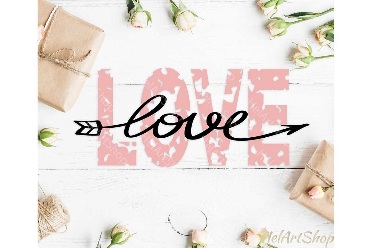 Love svg, Distressed svg, Grunge svg, Valentines day example image 1