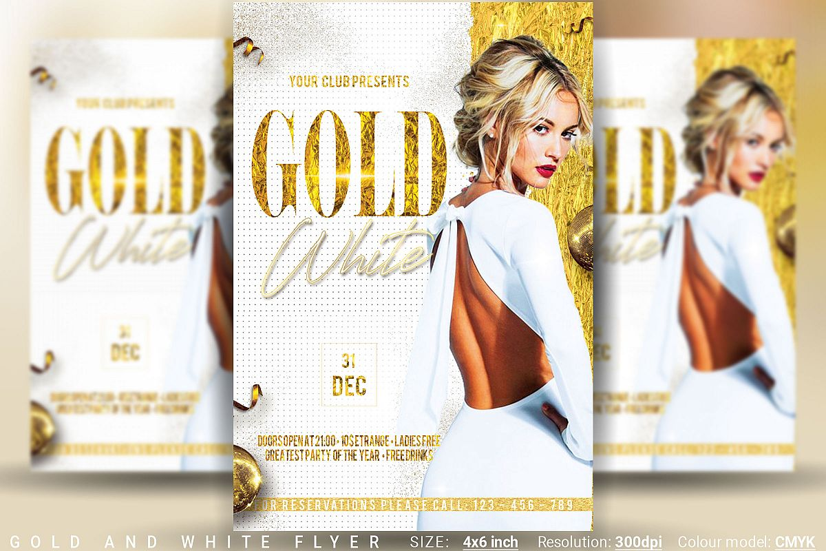 Gold And White Flyer example image 1