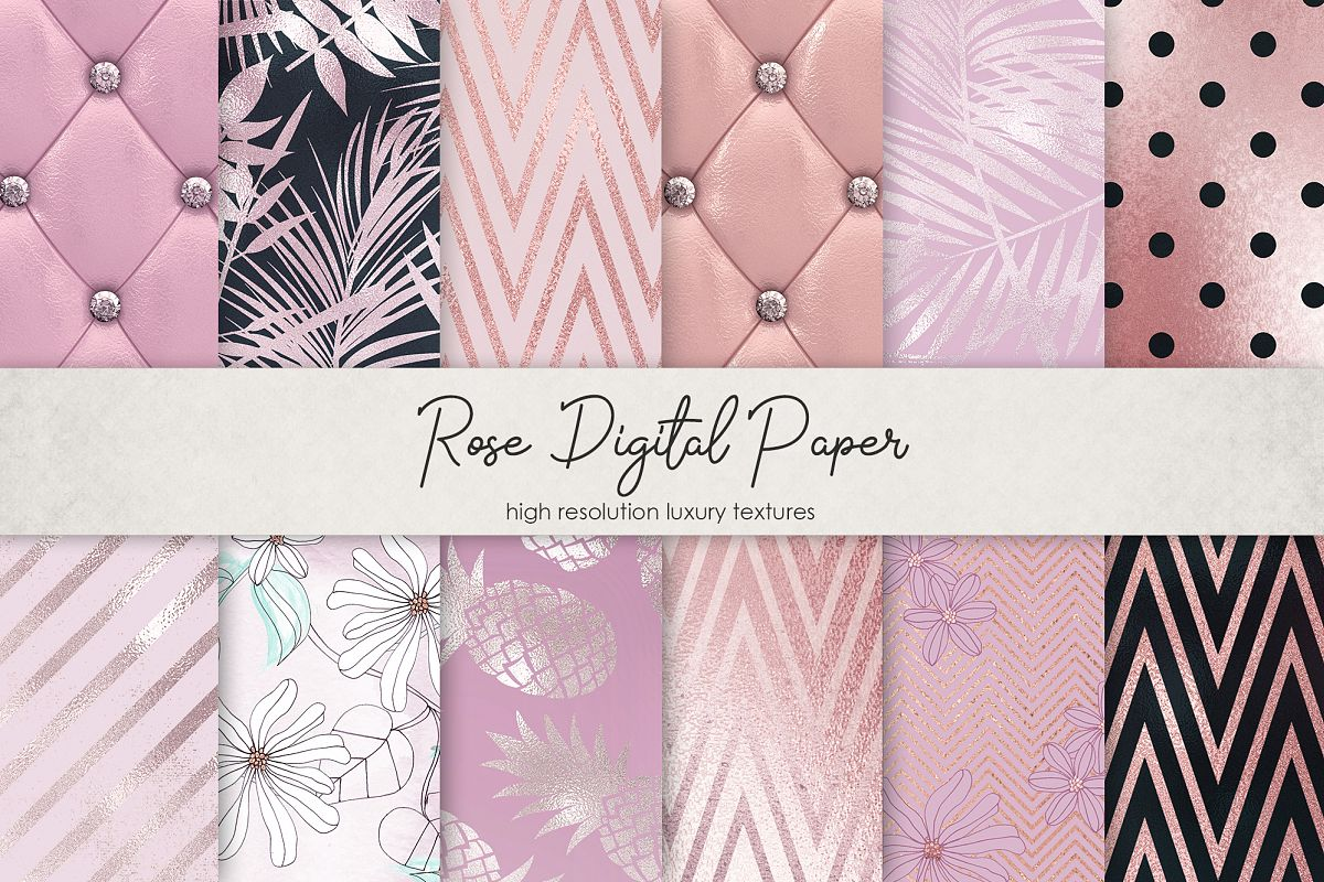 Rose Digital Paper example image 1