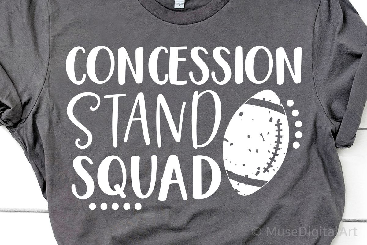 Football Svg, Concession Stand Squad Svg, Funny Football Svg example image 1