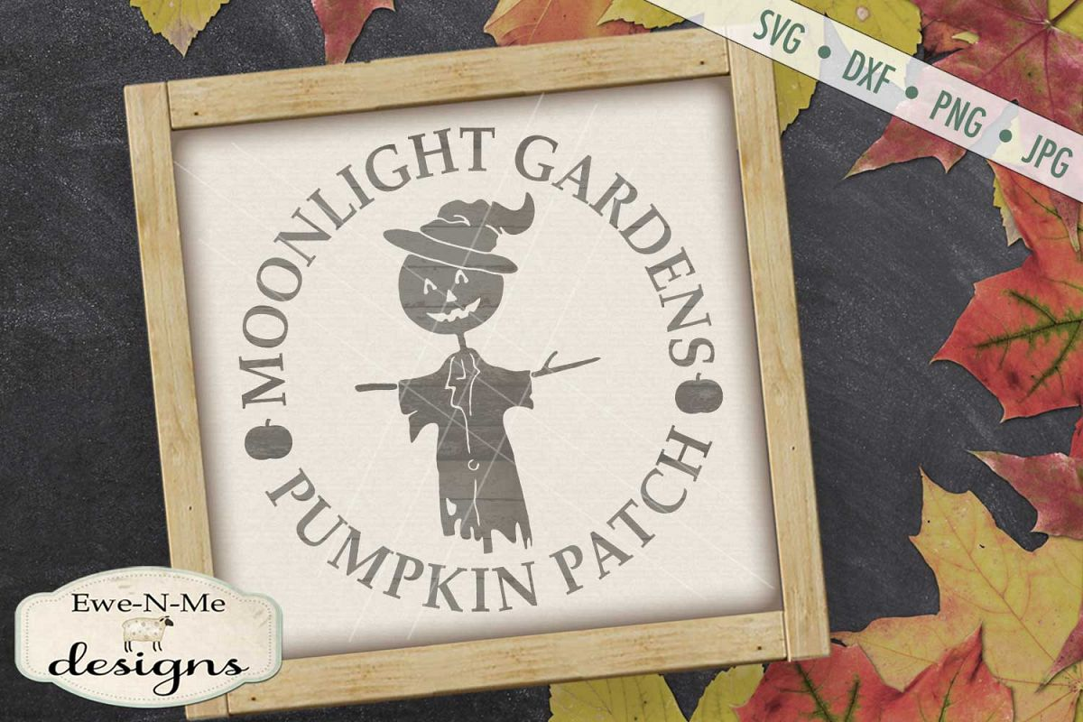 Moonlight Gardens Pumpkin Patch SVG DXF Files example image 1