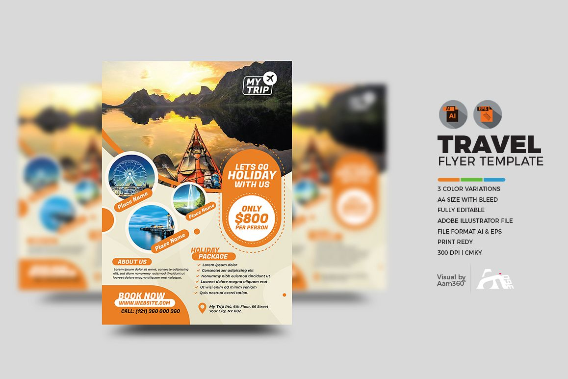 Travel Flyer Template example image 1