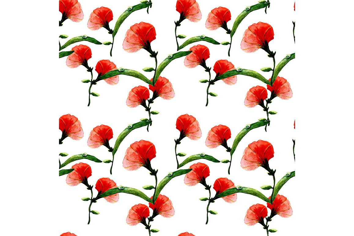 Seamless pattern with abstract flowers. example image 1